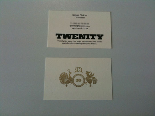 Twenity Business Card